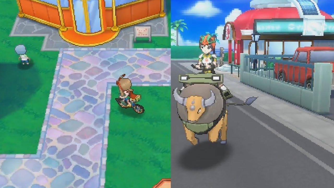 Pokemon Sun And Moon Vs Oras Graphics Comparison Side By Side