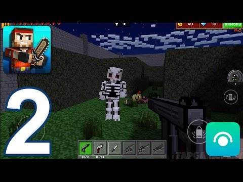 Pixel Gun 3D - Gameplay Walkthrough Part 2 - Pixelated World: Levels 1-5 (iOS, Android)