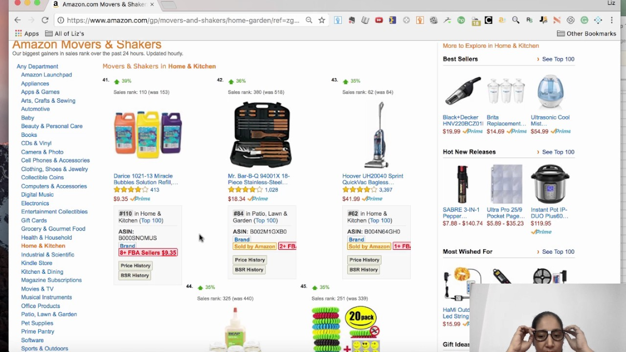 how to find the top selling products on amazon