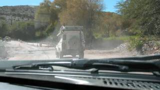 Driving across South America by 4x4 Jeep Cherokee