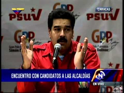 Acto del Pdte Nicolás Maduro y Diosdado Cabello con candidatos a alcaldes