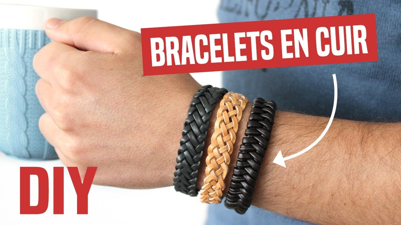 Creation bracelet cuir homme