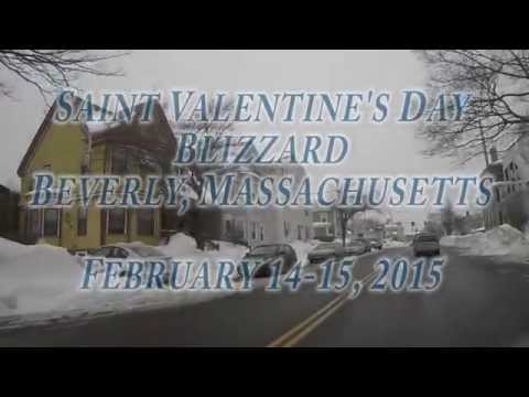 Saint Valentine's Day Blizzard 2015 Beverly, Massachusetts