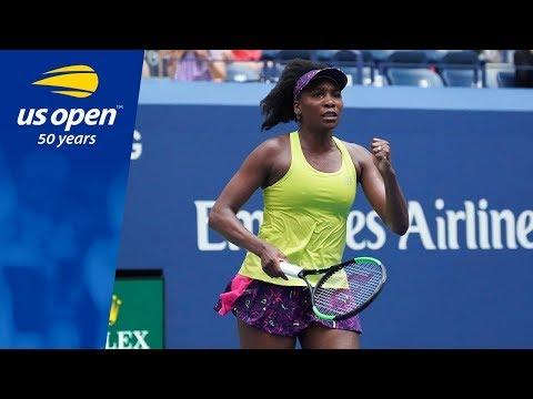 Venus Williams vs Svetlana Kuznetsova R1 of the 2018 US Open