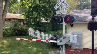 Backyard Railroad Crossing Signal and Gate Test Run