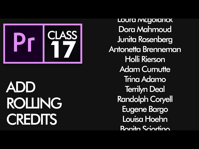 Rolling Credits - Adobe Premiere Pro CC Class 17 - Urdu / Hindi