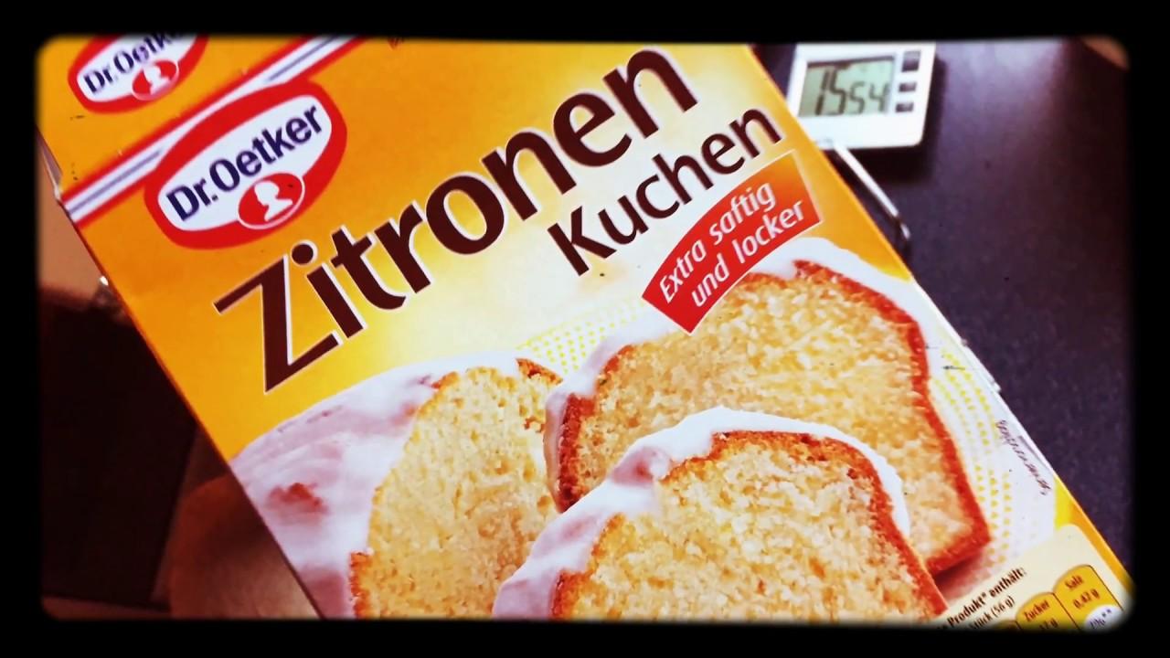 Zitronen Kuchen Dr Oetker Youtube