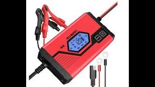 Suaoki - Cargador de baterias Coche 4 Amp 6/12V.