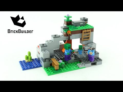 5687f5cab Lego Minecraft 21141 The Zombie Cave - Lego Speed Build - YouTube