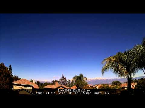 Chino Hills Time-Lapse 3/4/15