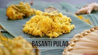 Basanti Pulao Recipe | Bengali Style Sweet Pulao Recipe
