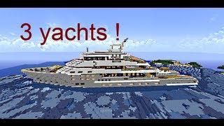 Minecraft - Visite de 3 yachts ! feat lecorbloc (+download)