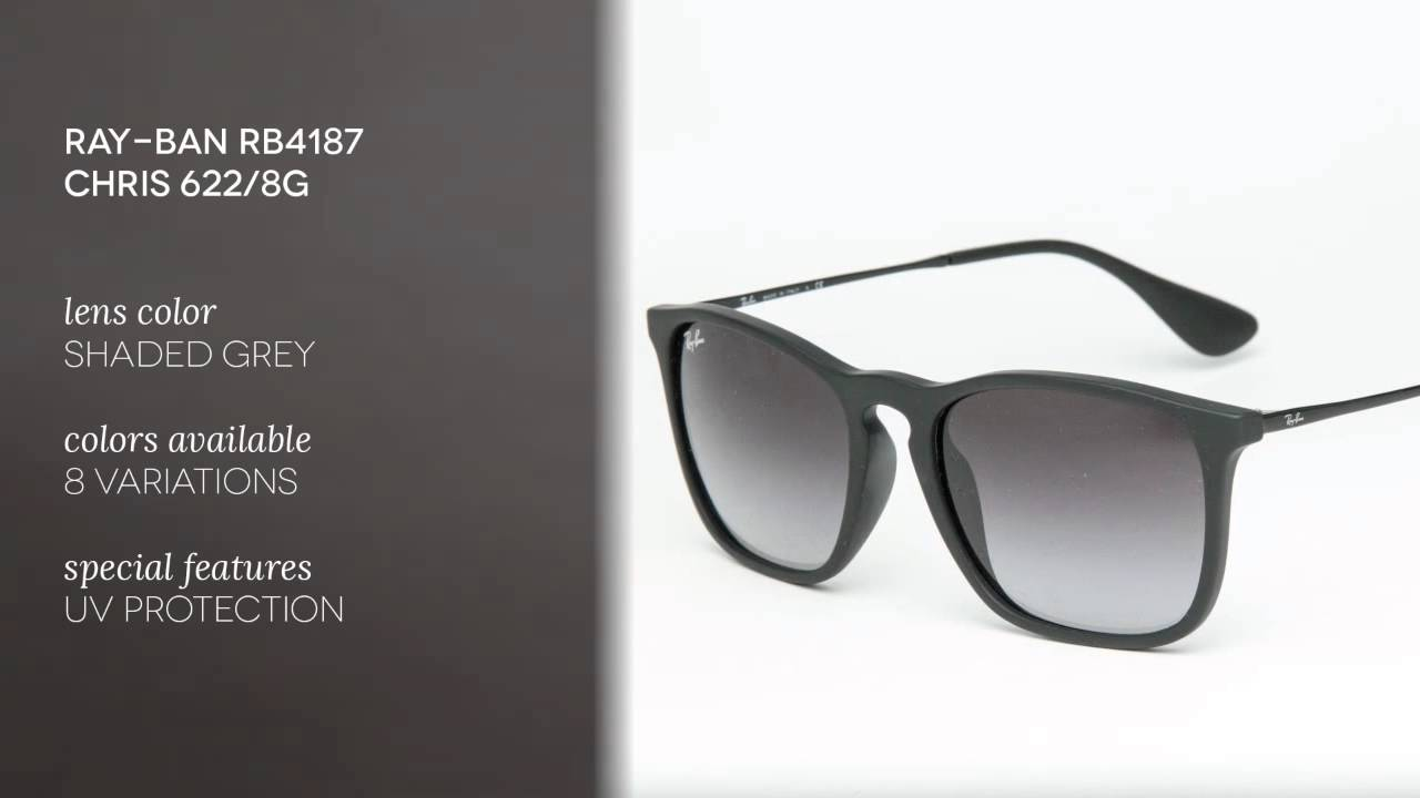 Ray Ban Rb4187 Chris 622 8g Ray Ban Sunglasses Review Visiondirectau Youtube