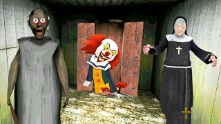 КЛОУН 'ОНО' ПЕННИВАЙЗ и МОНАХИНЯ в ГРЕННИ Сосед - Clown Neighbor Gang Granny