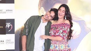Jhanvi Kapoor & Bf Ishaan Khattar's Cute MASTI On Stage At Dhadak Movie Success Meet