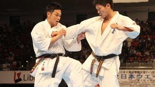 新極真会 第29回全日本ウエイト制大会 男子重量級決勝 森健太 VS 島本雄...