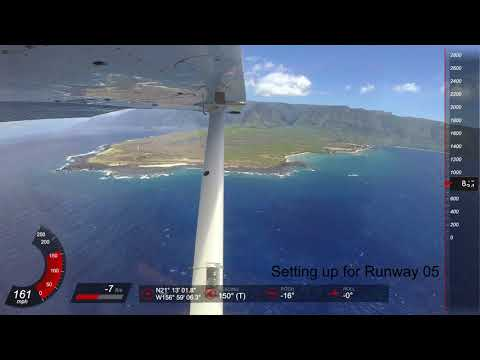 Flying through Maui County