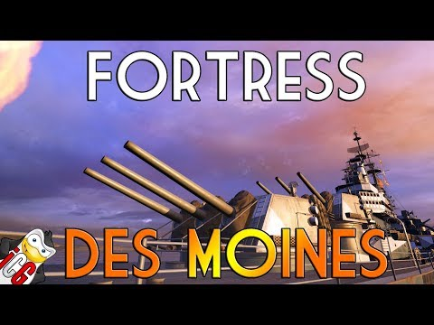 World of Warships - Fortress Des Moines