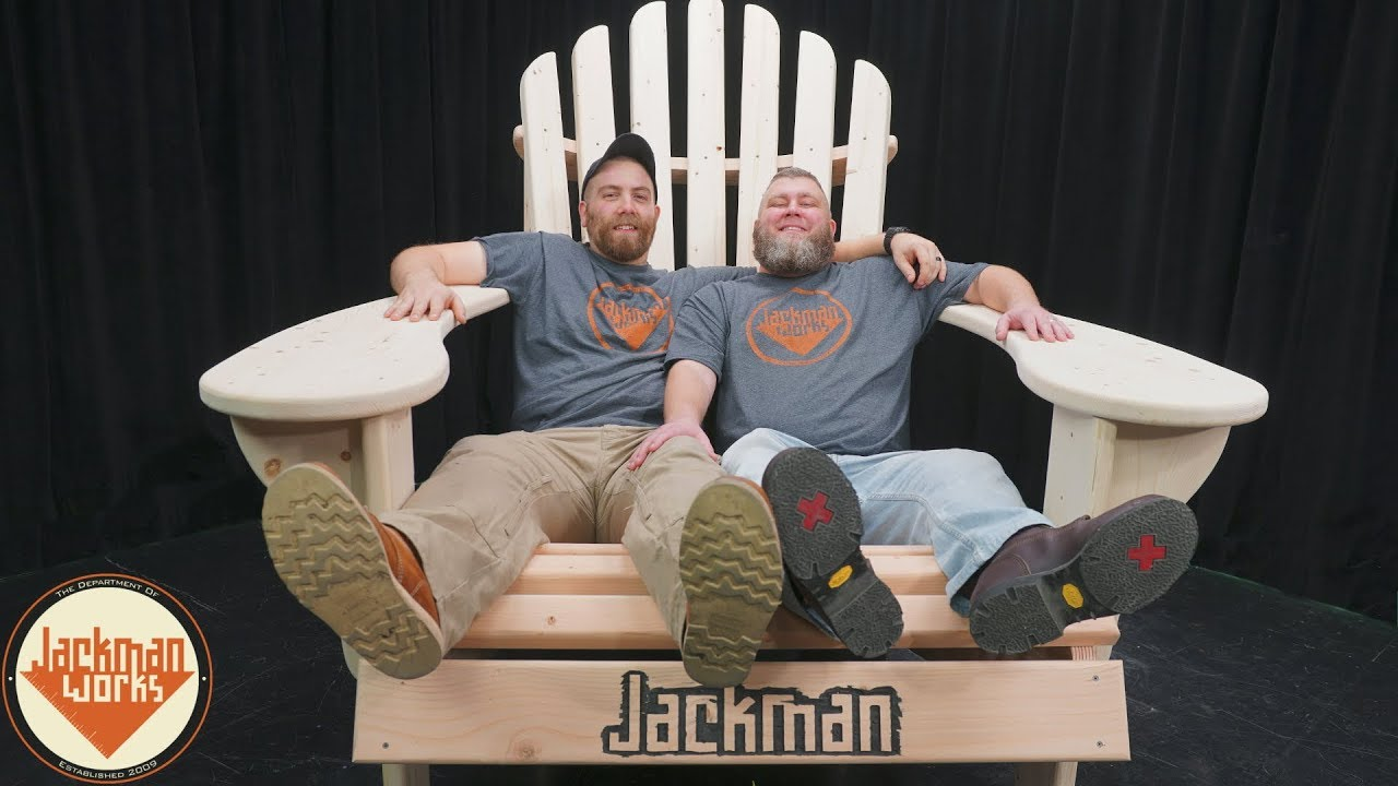 Building a Giant Adirondack Chair  YouTube