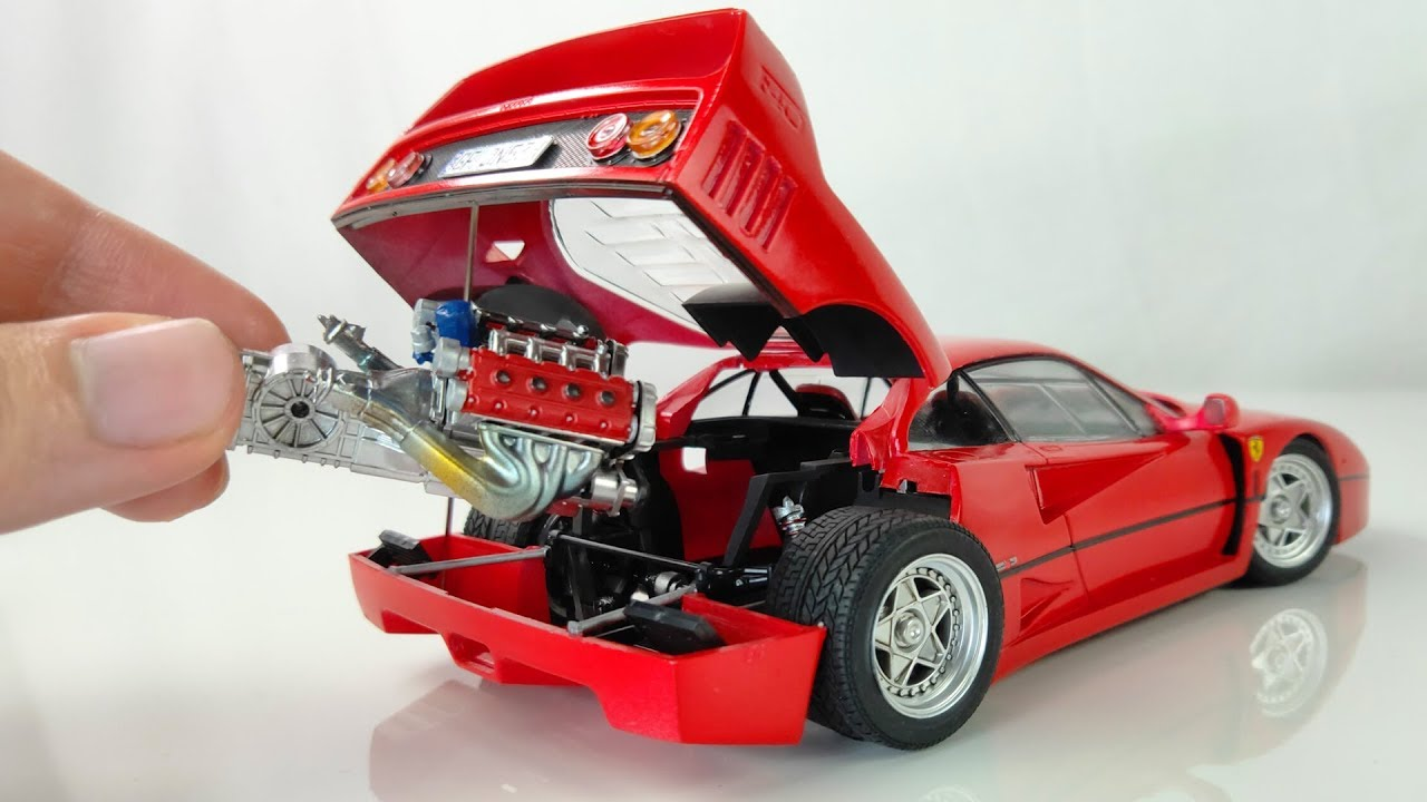 Building A Perfect Tiny Ferrari F40 Full Build Step By Step Youtube