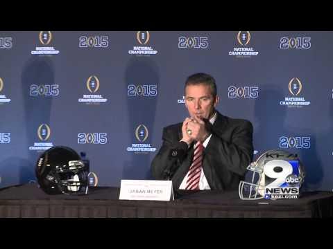 Mark Helfrich, Urban Meyer Sunday CFP title game press conference (1/11/15)