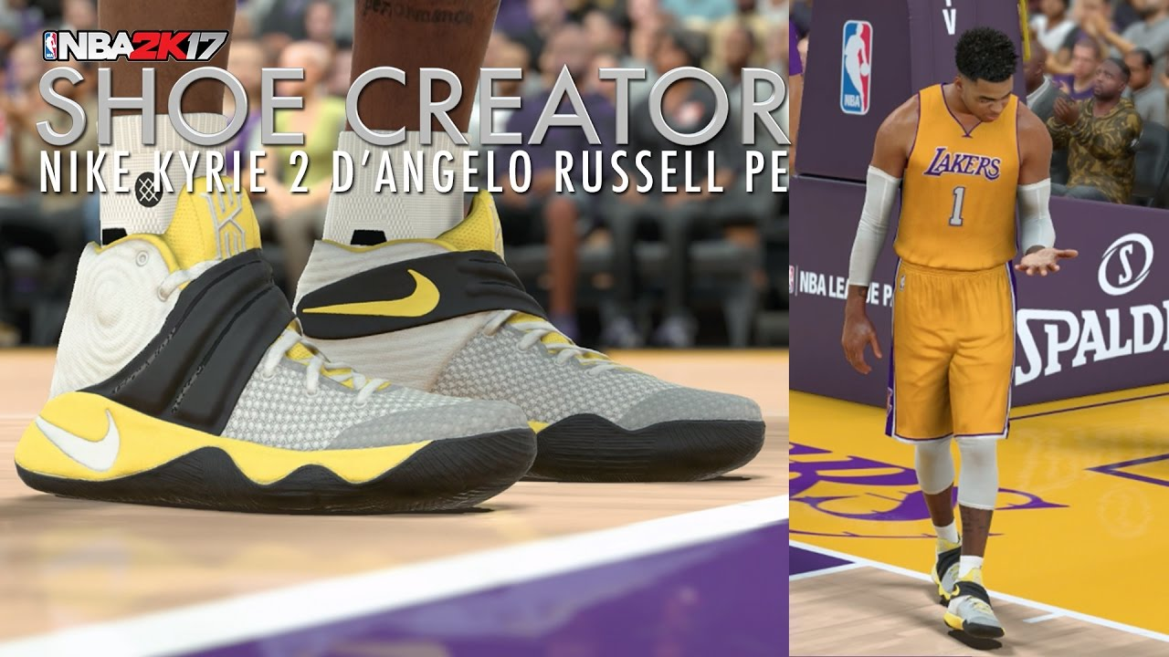cheap for discount c3a85 330eb ... official store nba 2k17 shoe creator nike kyrie 2 dangelo russell pe  youtube 19833 4c371 ...