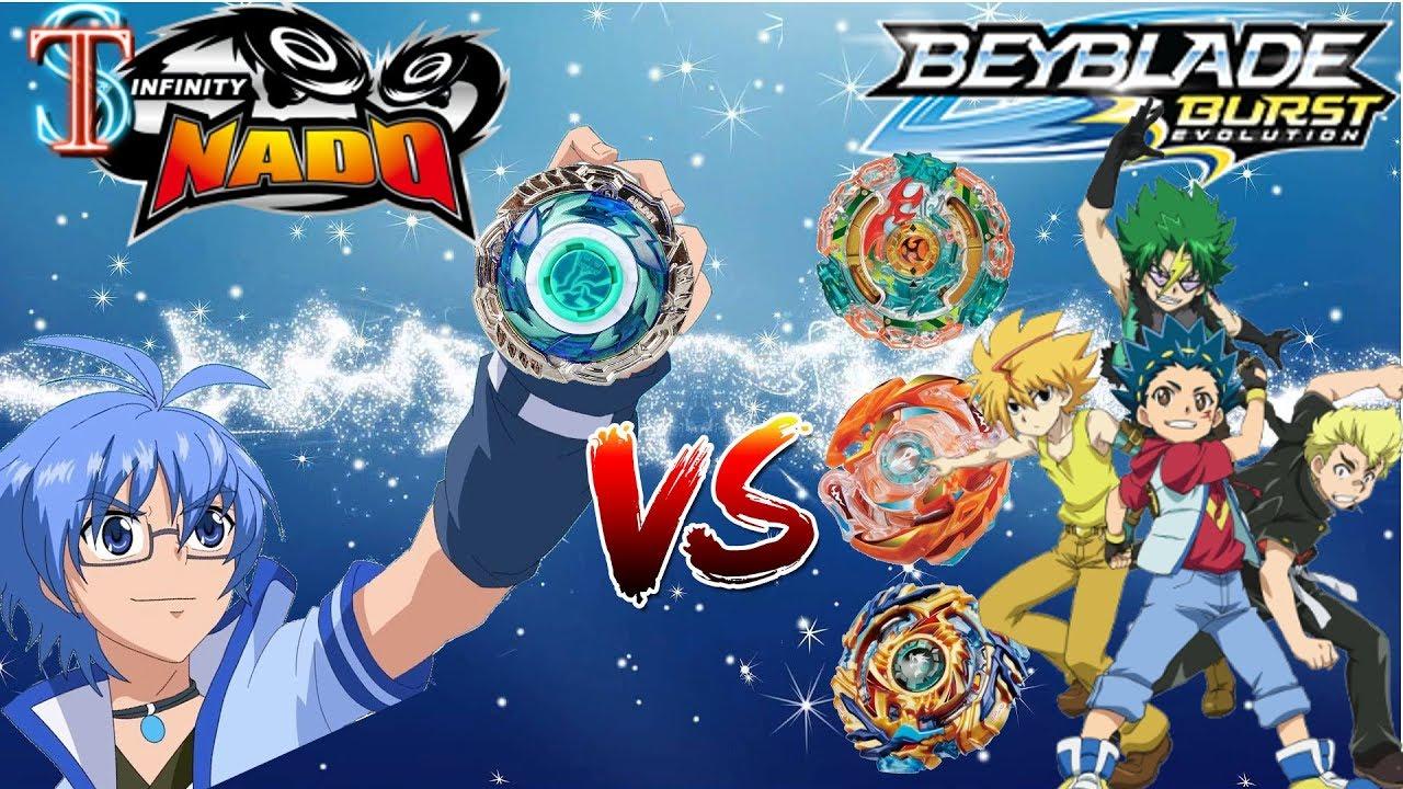 Битва Бейблэйд VS Инфинити Надо - кто сильнее? Beyblade Burst vs Infinity Nado | Супер Тима