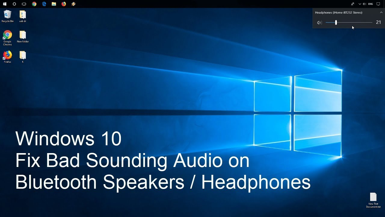 Windows 10 Bluetooth Bad Sounding Audio Fix