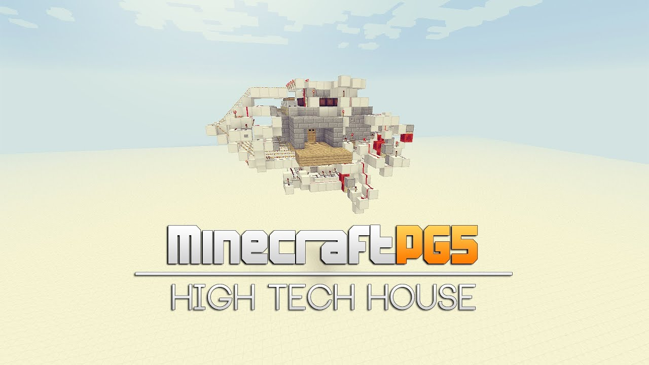 Hi Tech House High Tech House All In One Room Hidden Minecraft