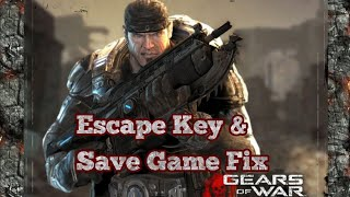 HOW TO PLAY GEARS OF WAR 1 IN PC (WITH FIXES FOR ESCAPE-KEY BUGS AND SAVE-GAME PROBLEMS)