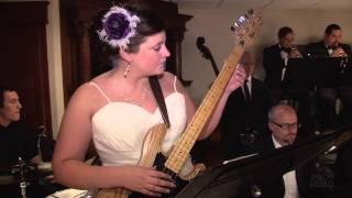Bride playing Bass Guitar at her Wedding