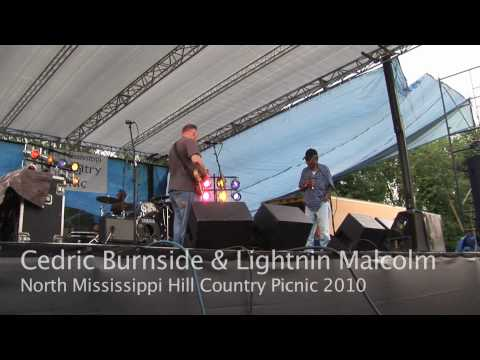 Cedric Burnside & Lightnin Malcolm - Old Black Mattie - North Mississippi Hill Country Picnic 2010