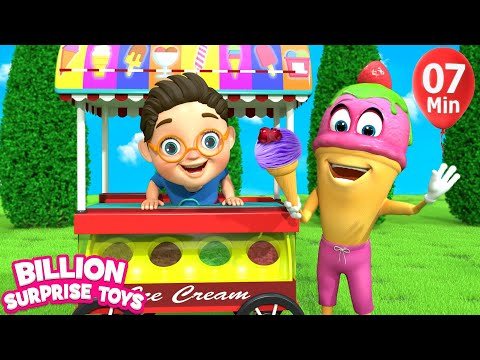 Little Babies ICE CREAM | Children Songs | 3D Baby Nursery Rhyme & Kids Song