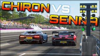 Forza Horizon 4   McLaren Senna [stock & maxed-out] vs Bugatti Chiron