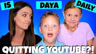 Daya Daily Quitting YouTube?! Help! FTC and YouTube