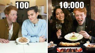 En tjej får 100 kr, en får 10.000 – vem bjuder på bästa dejten?