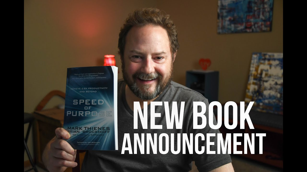 NEW BOOK! Speed of Purpose Announcement