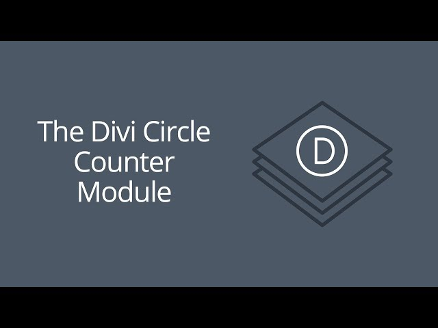 The Divi Circle Counter Module