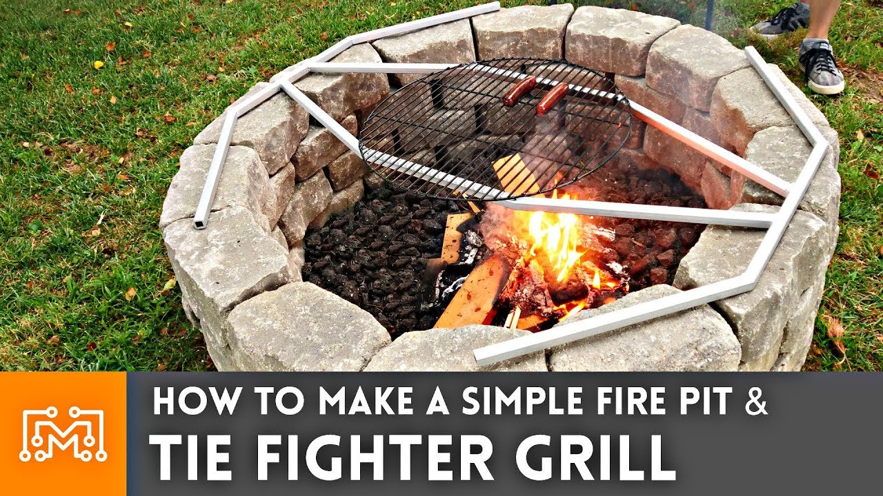 How To Make A Simple Fire Pit Tie Fighter Grill I Like To Make Stuff Youtube