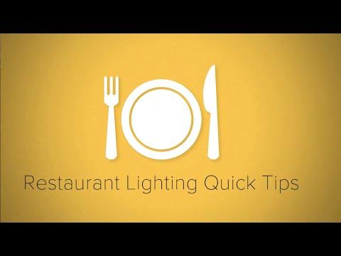 & Restaurant Lighting Quick Tips - YouTube