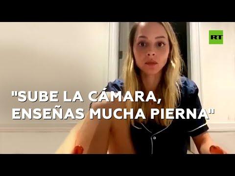 RT en Español: Un senador mexicano regaña a su esposa en directo por enseñar una pierna