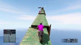 【GTA5】1000m級!?超特大ジャンプ台から決死の大ジャンプ!【4545隊】