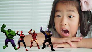 색칠공부를 하면 슈퍼히어로랑 신나게 춤을 춘다고? 헐크 스파이더맨 아이언맨 타노스 ㅣ Superheroes Dance with Ella ㅣ 아엘튜브