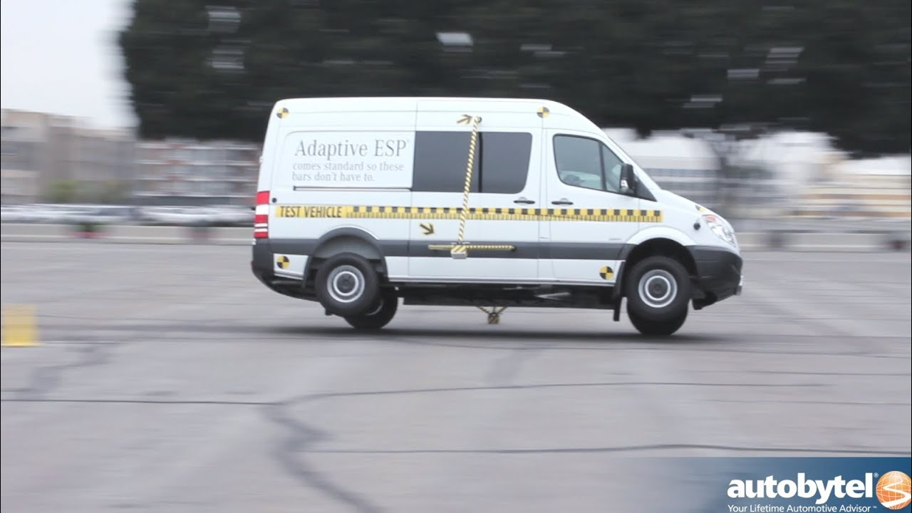 Mercedes Benz Of Anaheim >> 2013 Mercedes Sprinter Tour ESP Obstacle Avoidance Demo & Car Safety Test Video - YouTube