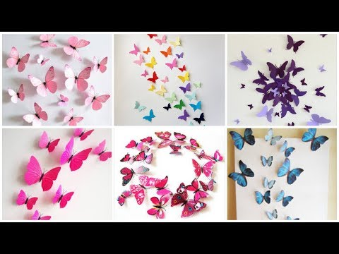 Stylish handmade  paper butterflies for wall art decoration ideas/Wall art design ideas