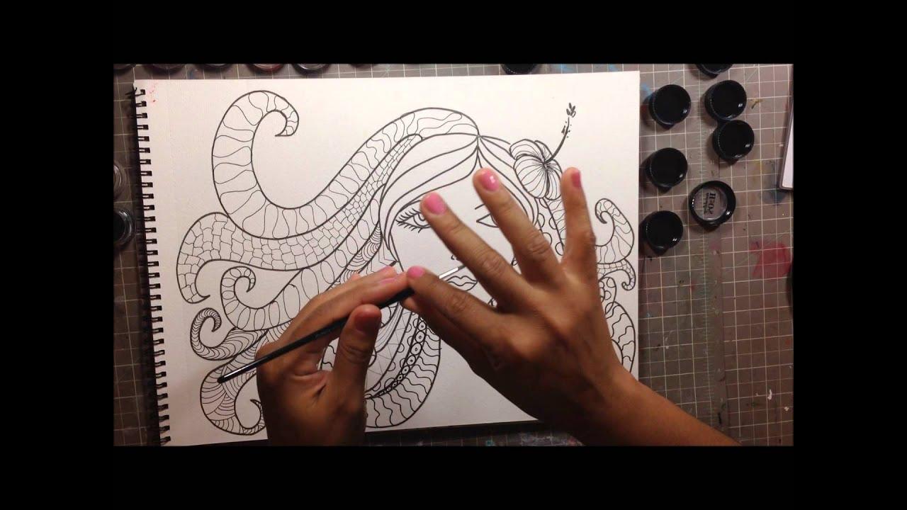 Art Journal Calendar Tutorial : Creative sunday art journal tutorial doodle and