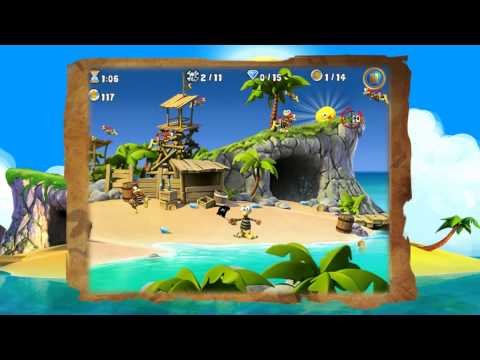 Crazy Chicken: Pirates (iOS / iPhone / iPad) Official Trailer by Teyon