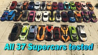 GTA V Online Which is fastest of all supercars | Top Speed Part-2