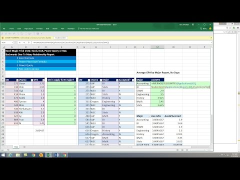 Excel Magic Trick 1322: Backwards One To Many Relationship Report: Excel, Power Query or SQL?