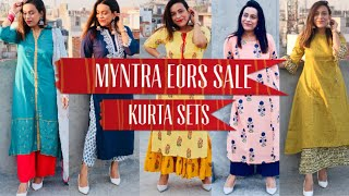 Myntra EORS Sale Haul/TryOn June 2019 !! Affordable Kurta Sets Isse Sasta Kabhi Nahi Milega !!